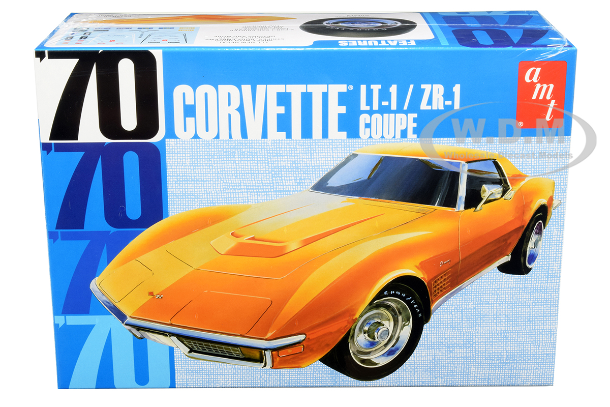 Skill 2 Model Kit 1970 Chevrolet Corvette LT-1/ZR-1 Coupe 1/25 Scale Model by AMT