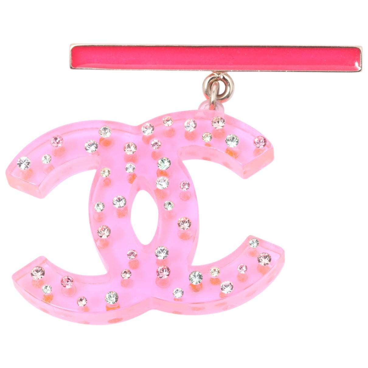 Chanel - Broche CC pour femme - rose