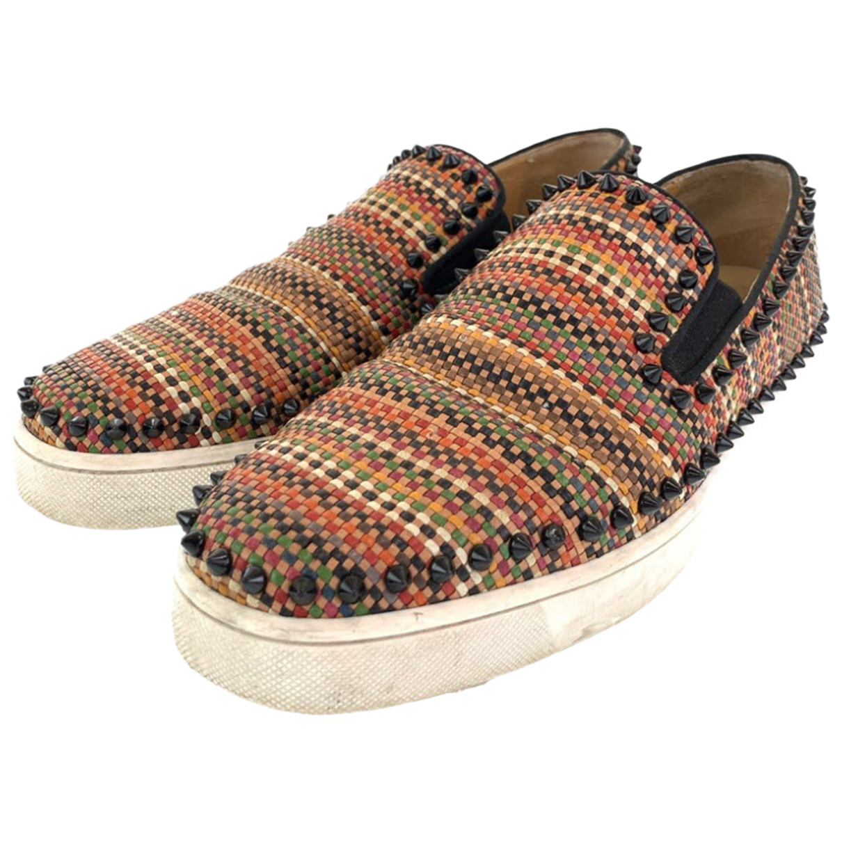 Christian Louboutin N Brown Leather Flats for Men 44 IT