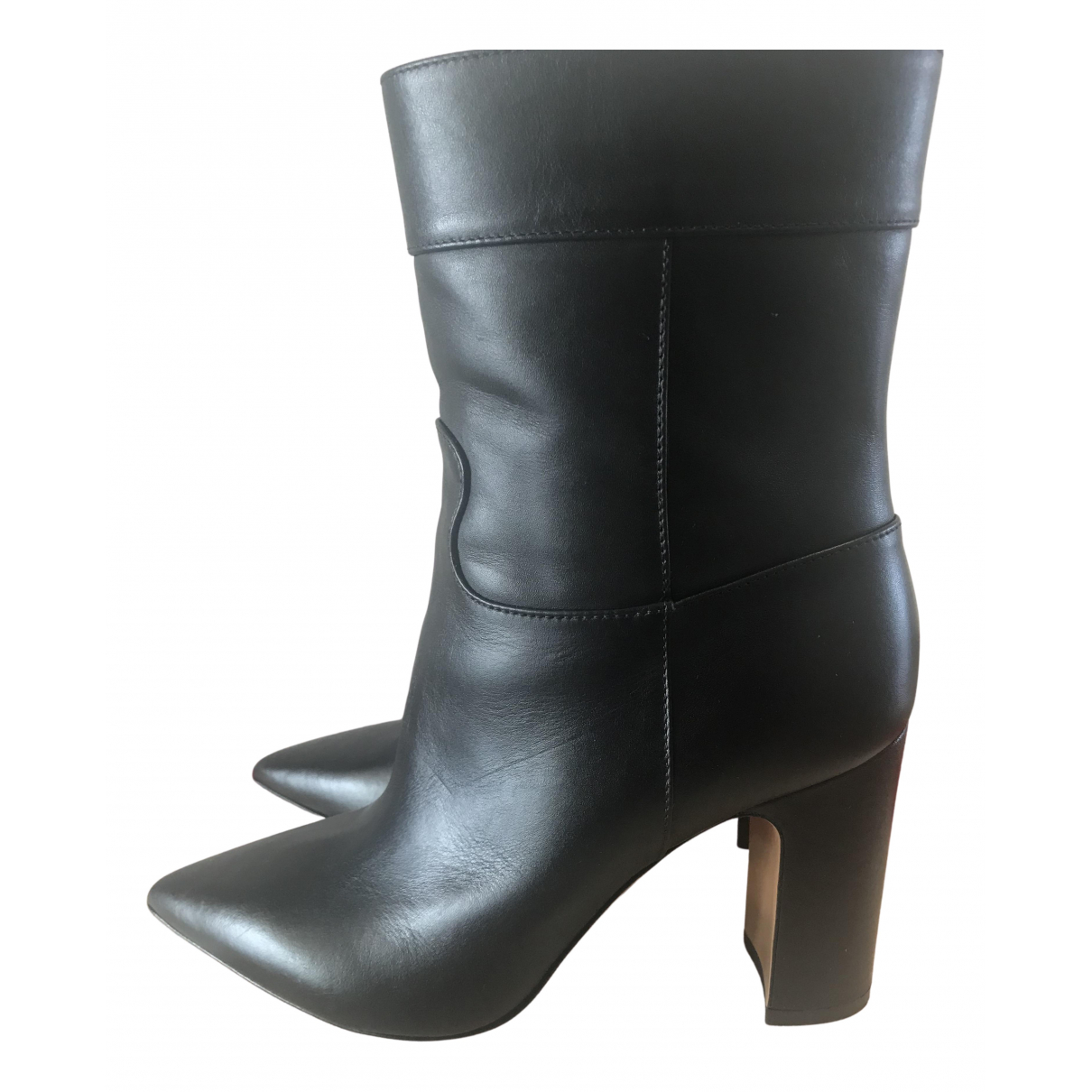 Valentino Garavani N Black Leather Ankle boots for Women 38 EU