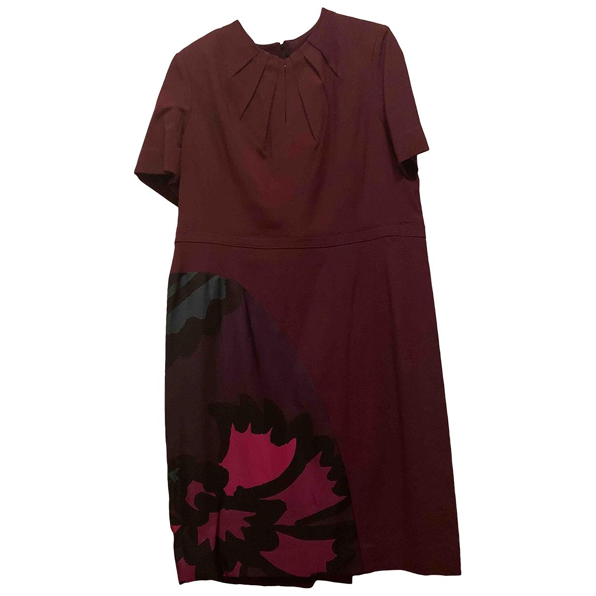 Burberry \N Kleid in  Braun Seide