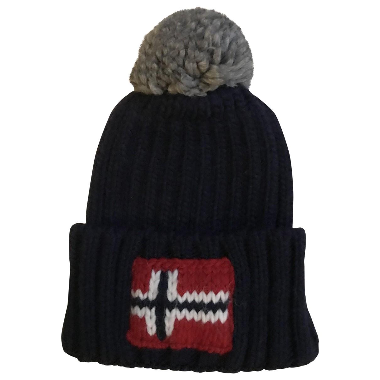Napapijri - Chapeau & Bonnets   pour homme en laine - bleu