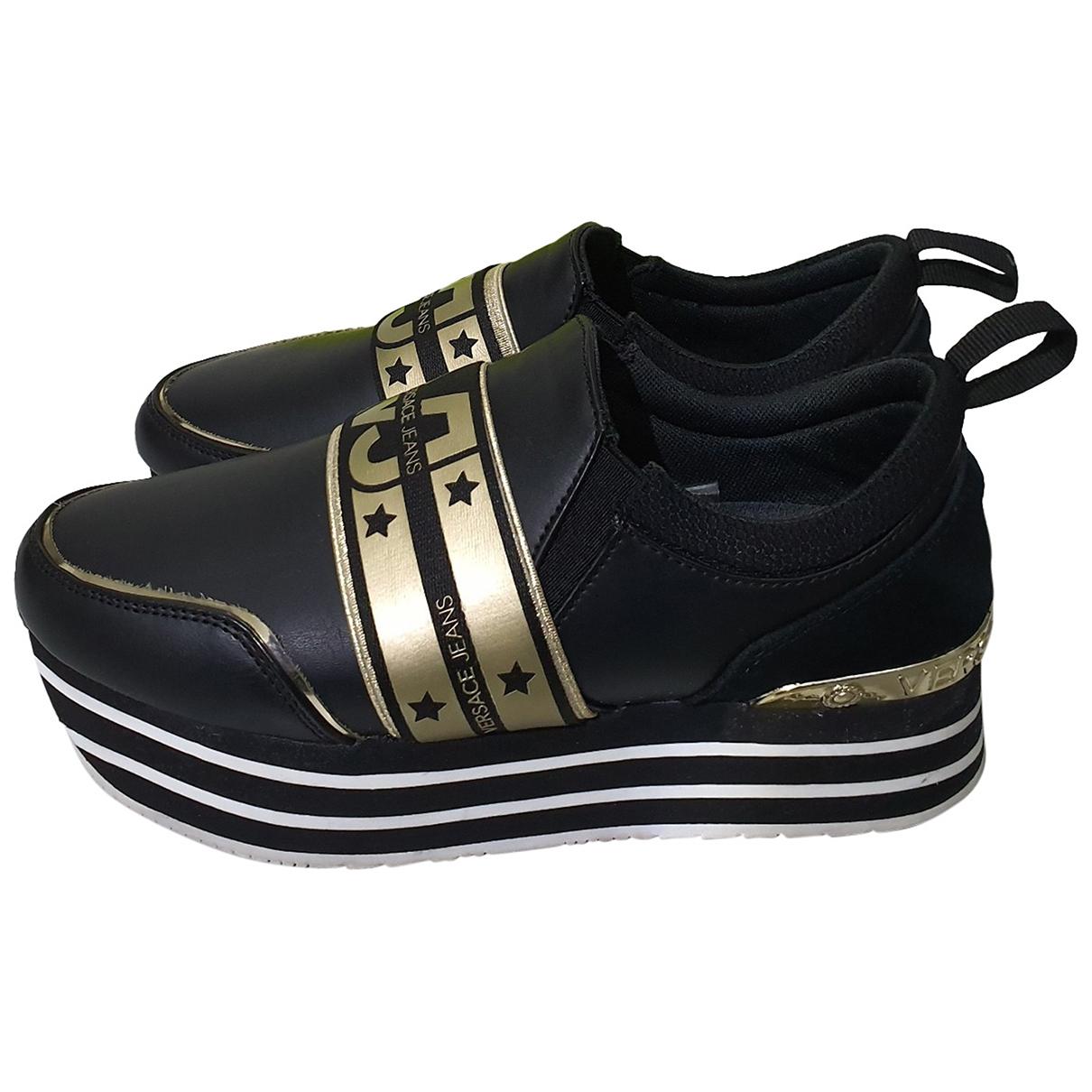 Versace Jeans \N Black Flats for Women 37 EU