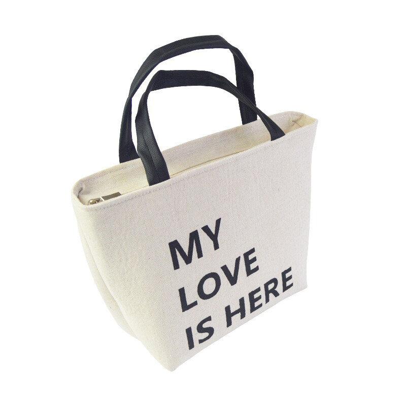 Cotton Linen Thick Aluminum Foil Portable Insulation Storage Bag Lunch Bag Deer Bear Rabbit Pattern