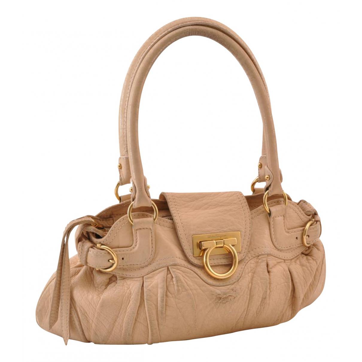 Salvatore Ferragamo N Beige Leather handbag for Women N