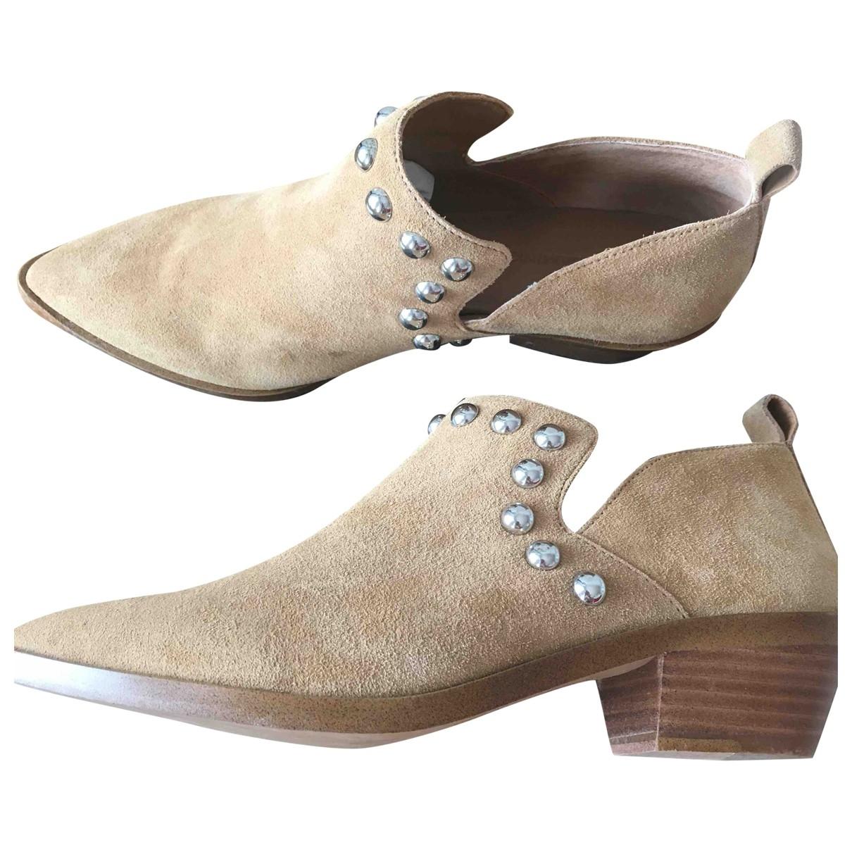 Rebecca Minkoff - Boots   pour femme en cuir - beige