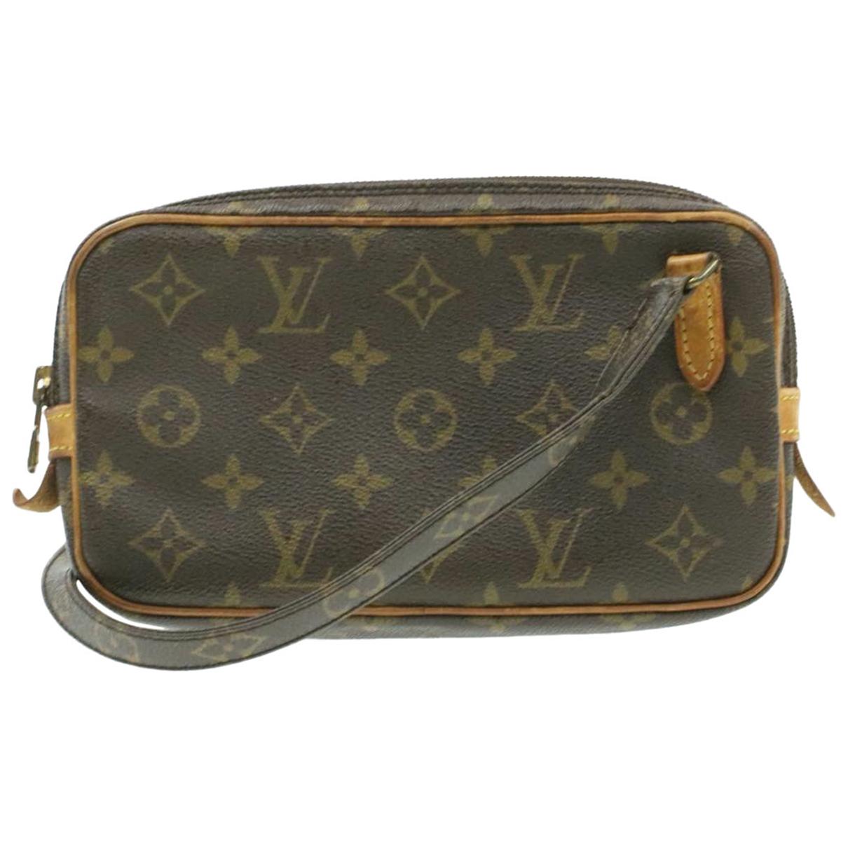 Louis Vuitton Marly Brown Cloth handbag for Women N