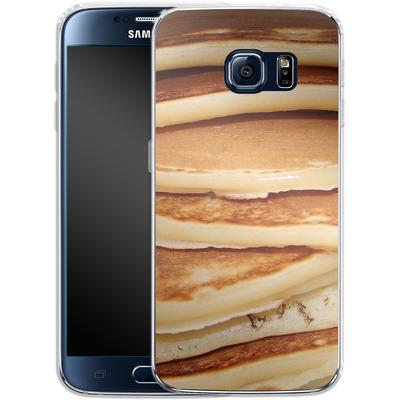 Samsung Galaxy S6 Silikon Handyhuelle - Pancakes von caseable Designs