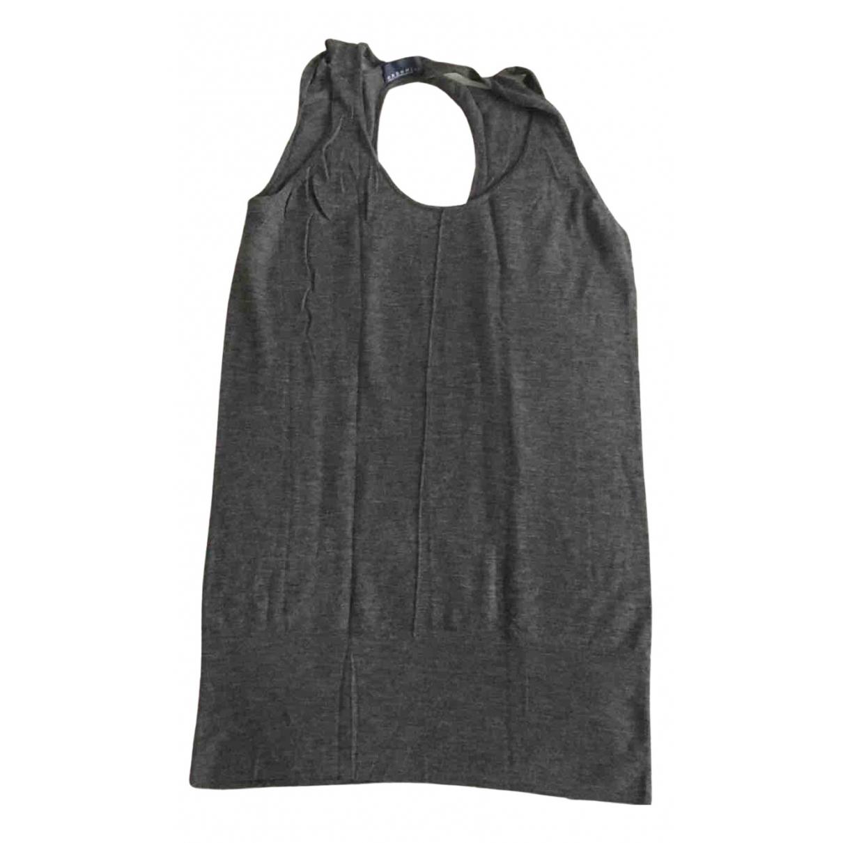 Stefanel - Pull   pour femme en cachemire - gris