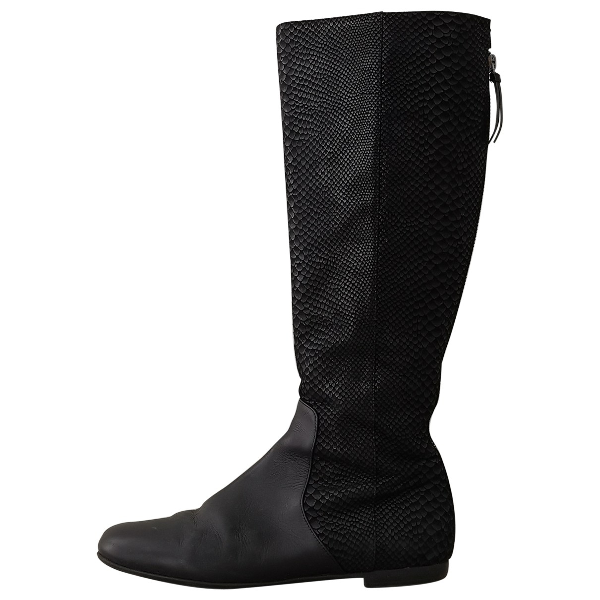 Giuseppe Zanotti \N Black Leather Boots for Women 39.5 EU