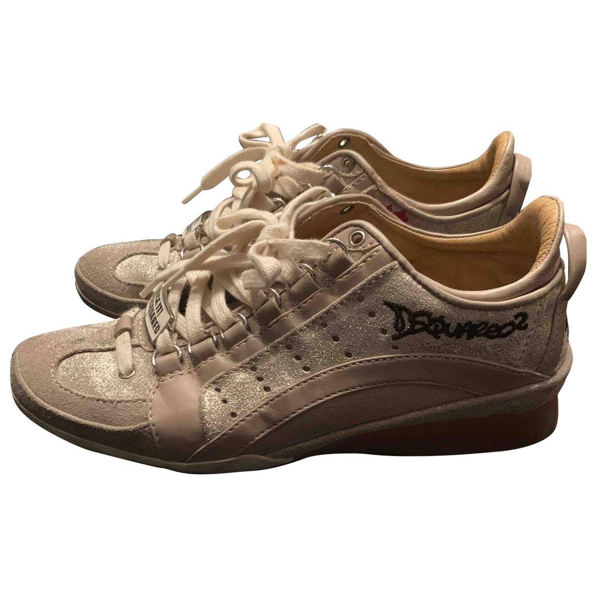 Dsquared2 \N Sneakers in  Beige Veloursleder