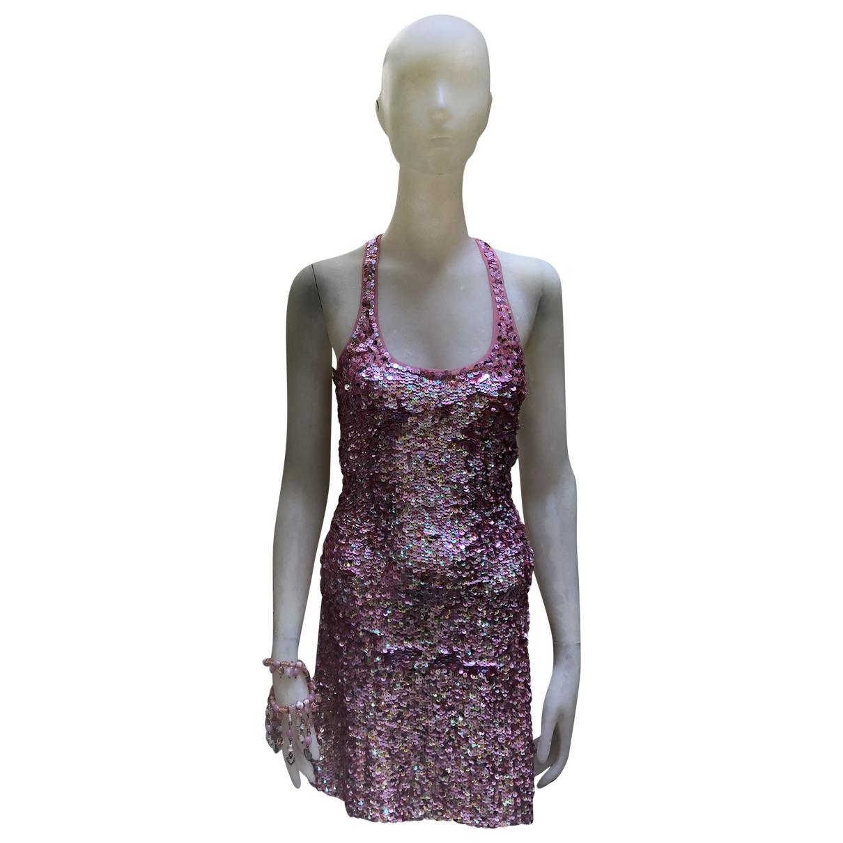 Pinko \N Kleid in  Rosa Mit Pailletten