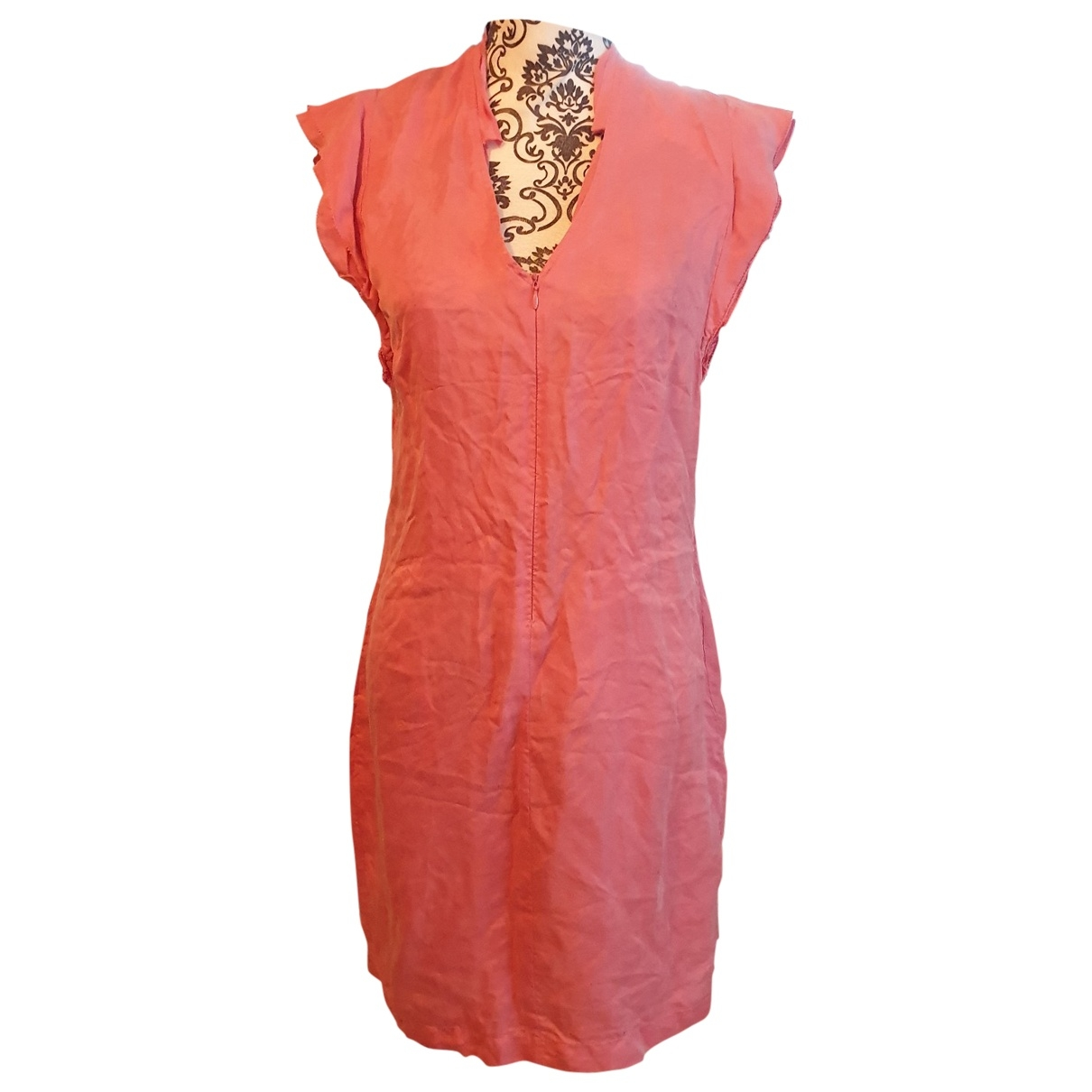 Non Signé / Unsigned \N Pink Silk dress for Women 36 FR