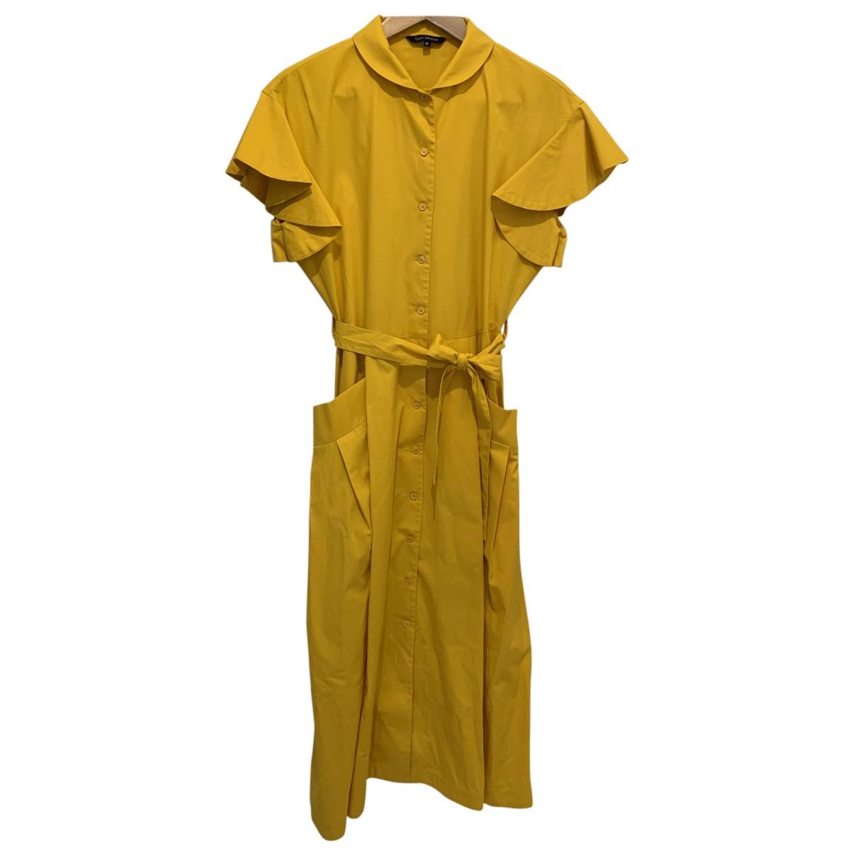 Tara Jarmon N Yellow Cotton dress for Women 38 FR