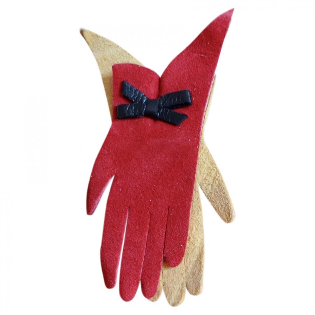 Hermes - Broche   pour femme en cuir - rouge