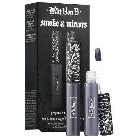 KVD VEGAN BEAUTY Kitten Mini Smoke & Mirrors Grayscale Mini Lip Everlasting Liquid Lip Duo, One Size , No Color Family
