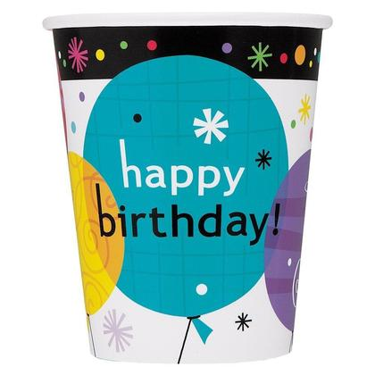 Breezy Birthday 9oz Paper Cups, 8ct For Birthday Party
