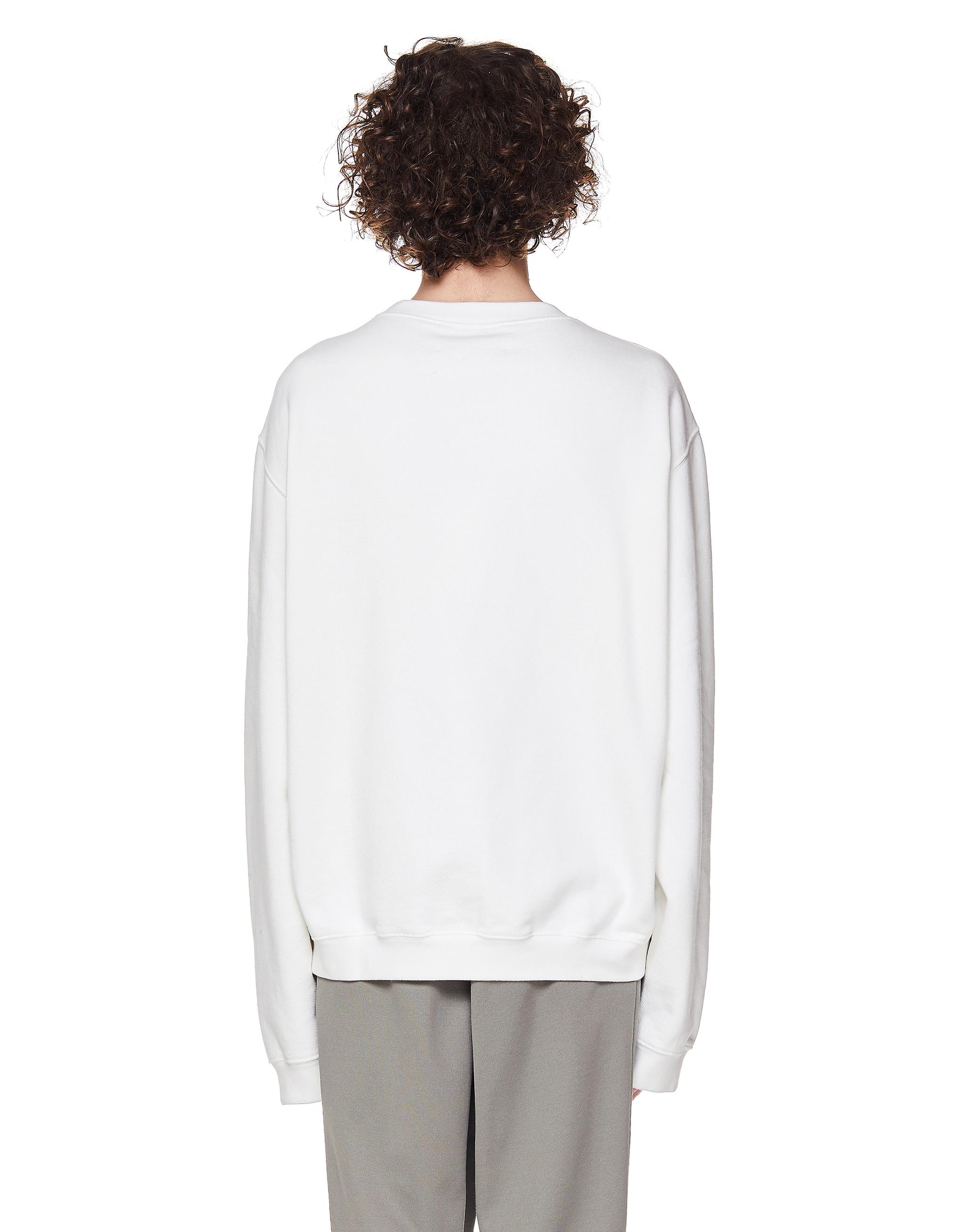 Maison Margiela White Cotton Sweatshirt