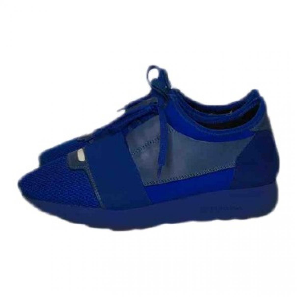 Balenciaga \N Sneakers in  Blau Leinen