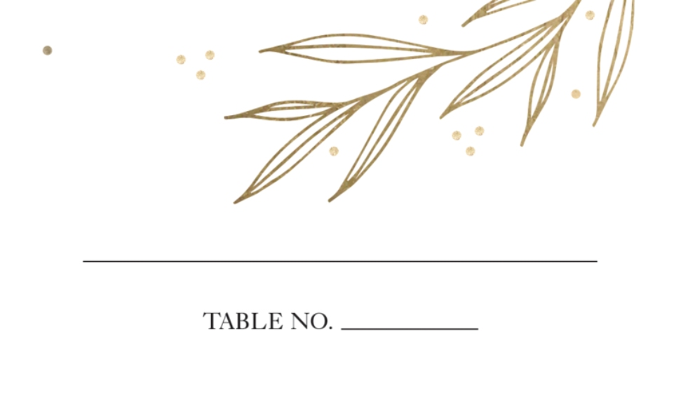 Matching Suites Business Cards, Set of 40, Card & Stationery -Wedding Place Card Golden Leaves by Tumbalina