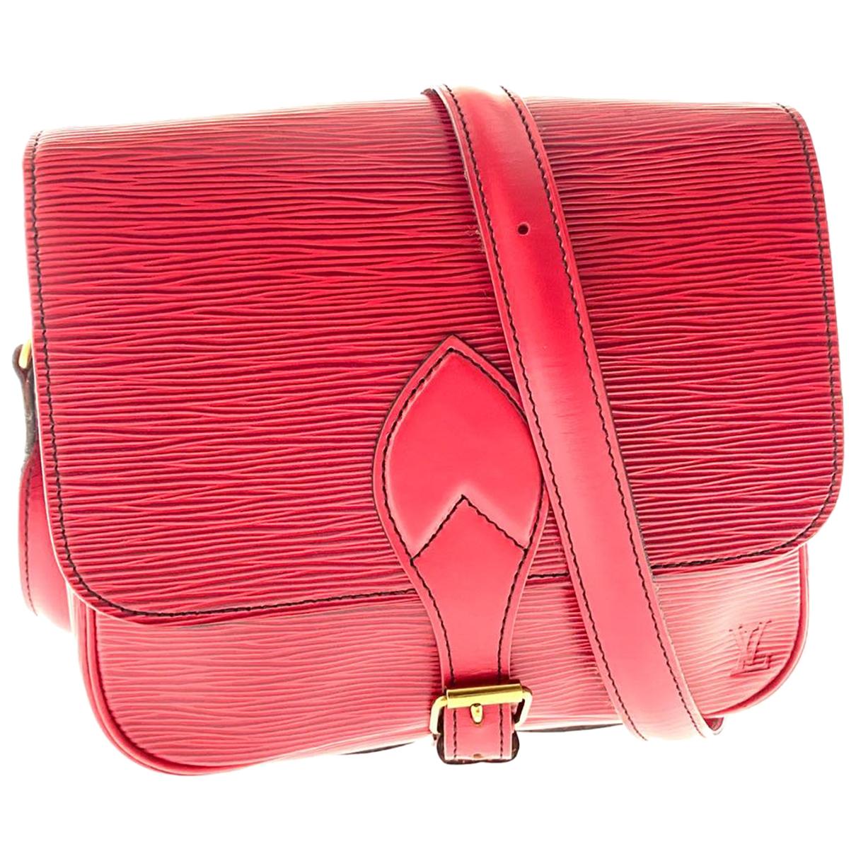 Louis Vuitton Cartouchiere Handtasche in  Rot Leder