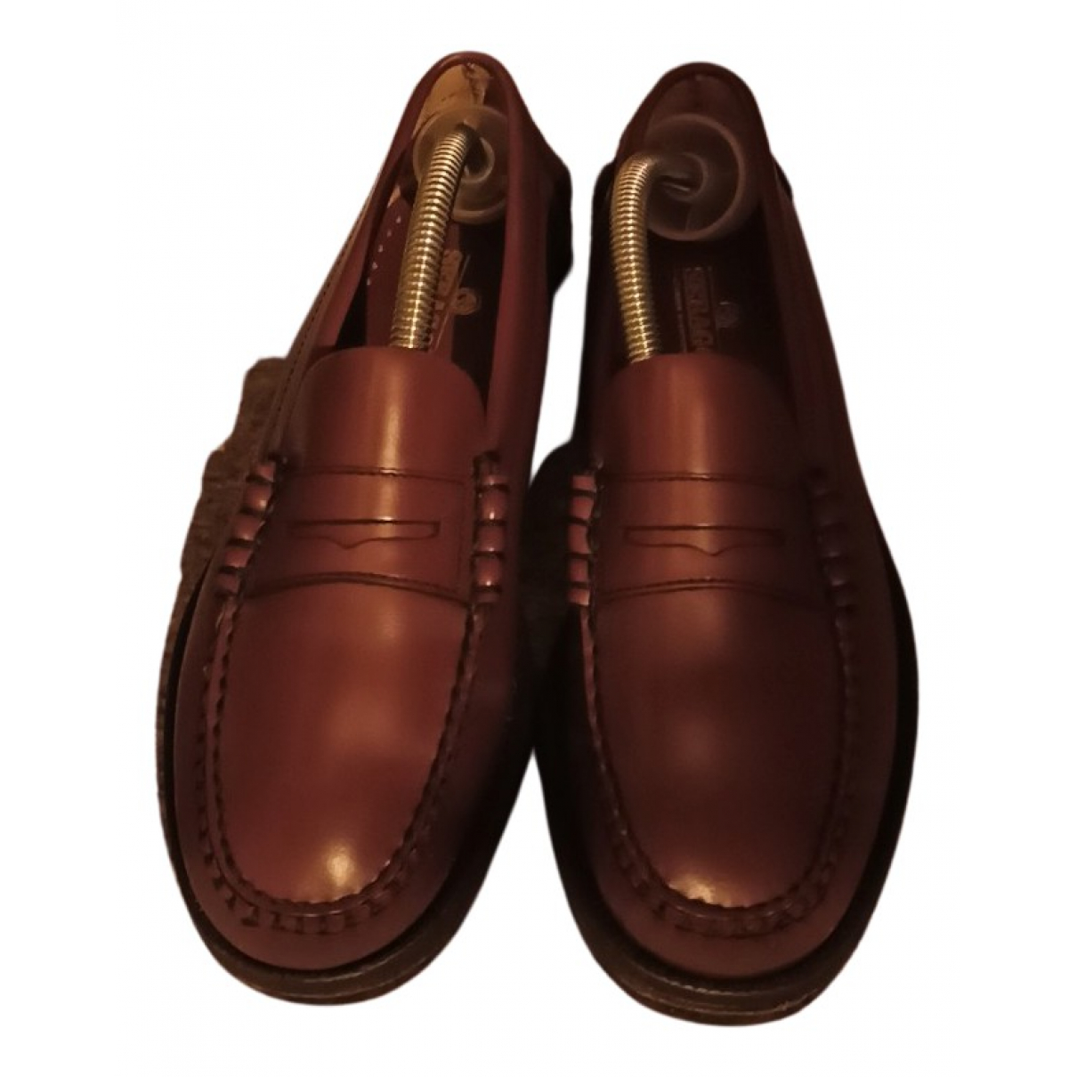 Sebago N Camel Leather Flats for Women 37 EU