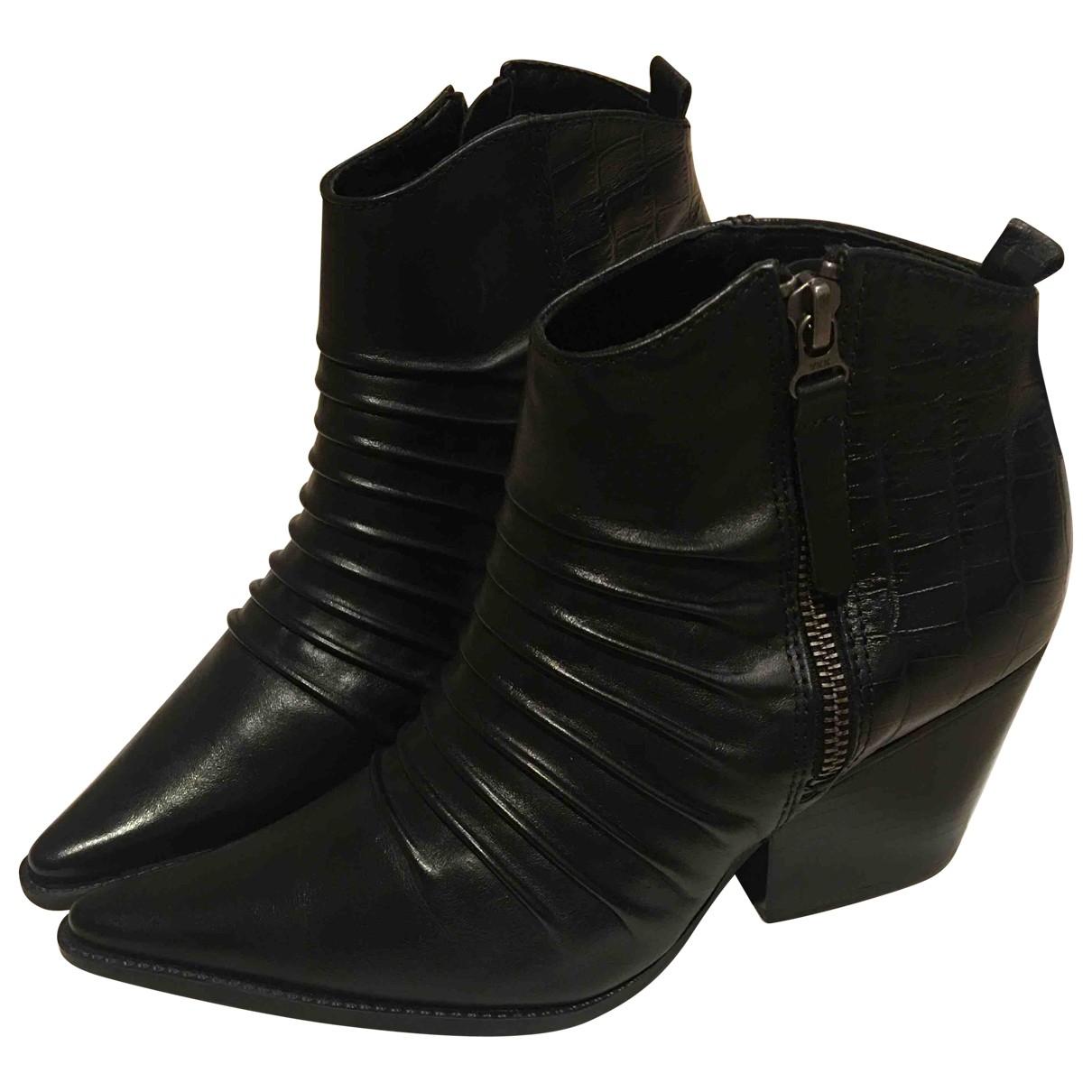Buttero - Bottes   pour femme en cuir - noir