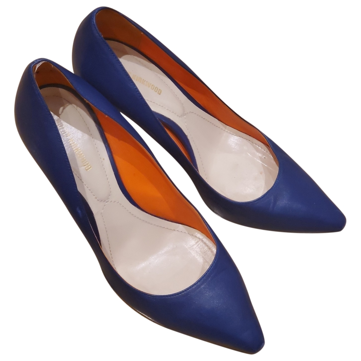 Nicholas Kirkwood \N Blue Leather Heels for Women 38 EU