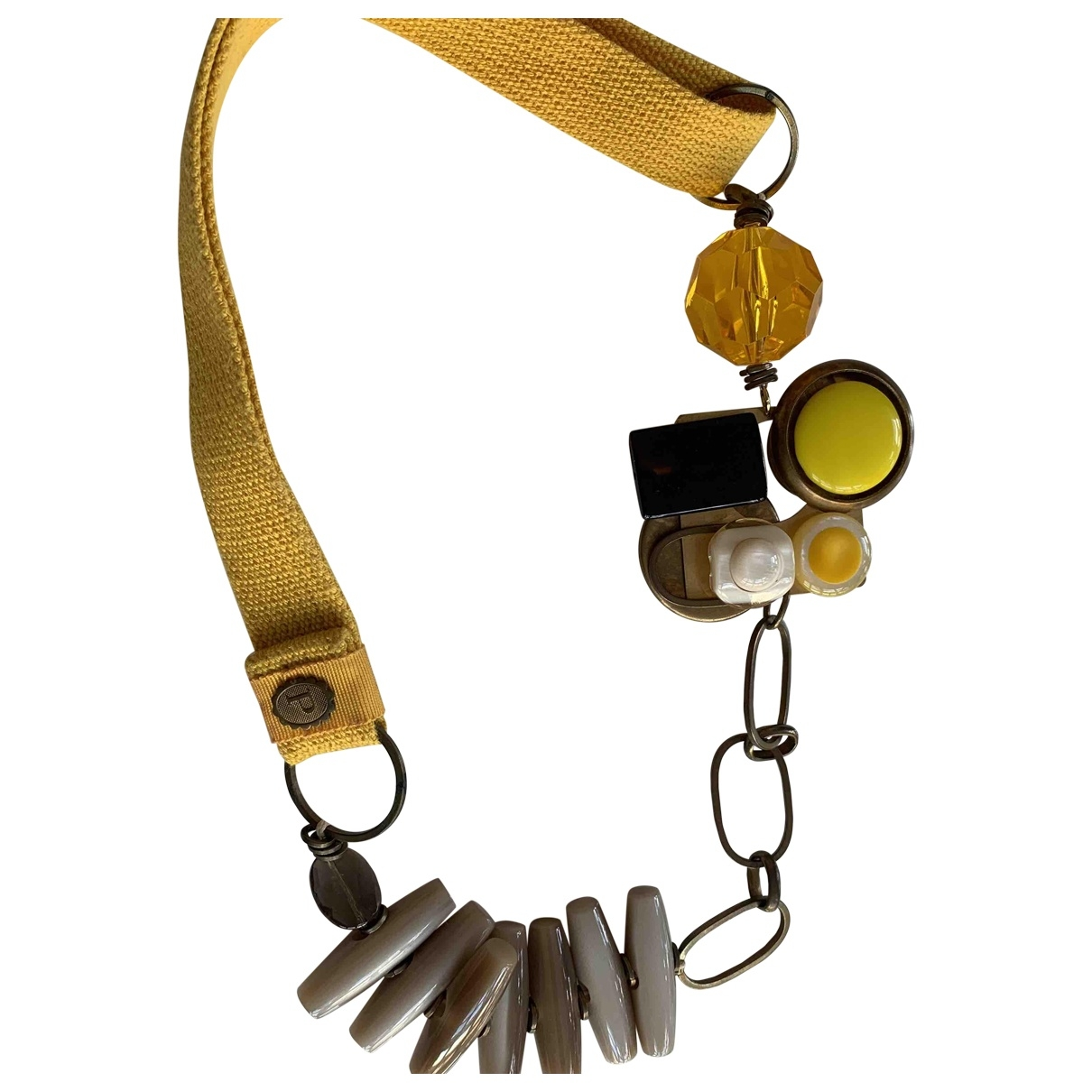 Non Signé / Unsigned Art Déco Yellow Metal necklace for Women \N