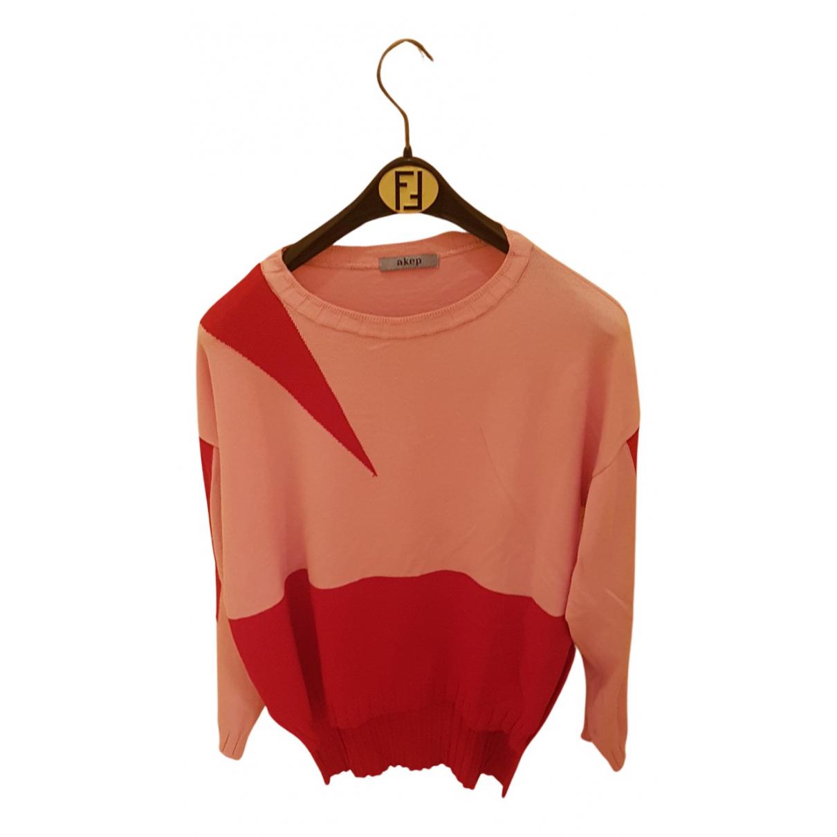 Akep N Red Knitwear for Women 44 IT