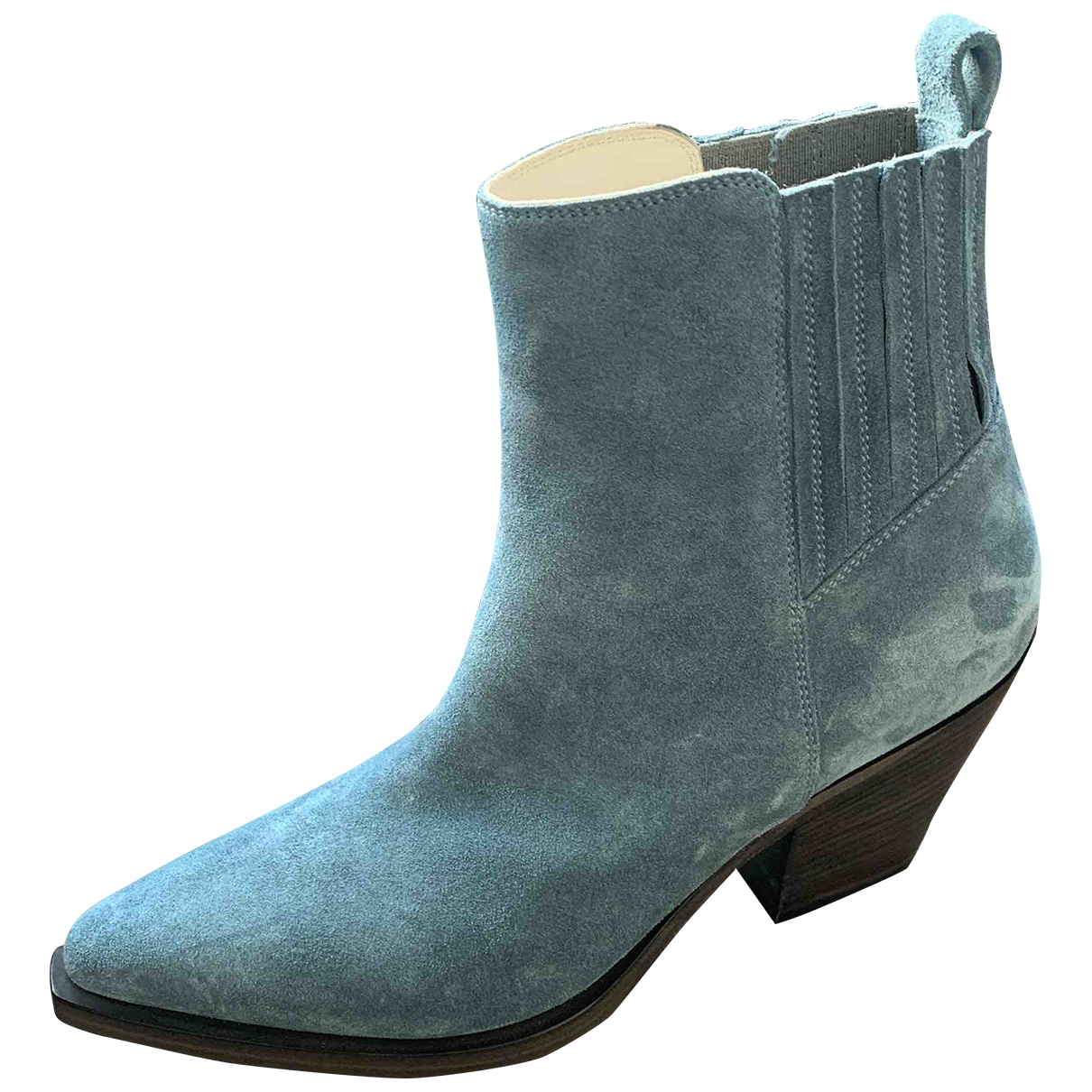 Sartore \N Blue Suede Ankle boots for Women 35 EU