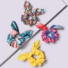 4 Stuecke Haarband mit Bluemchen Muster