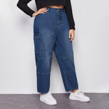 Mom Jeans mit hoher Taille