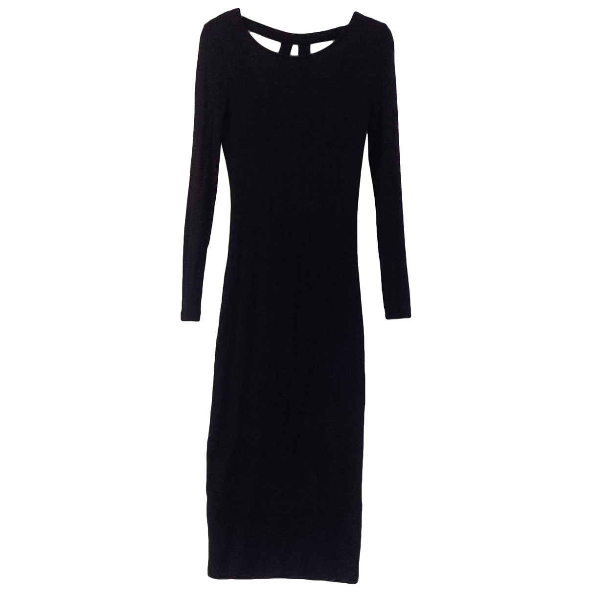 Non Signé / Unsigned \N Black Cotton - elasthane dress for Women S International