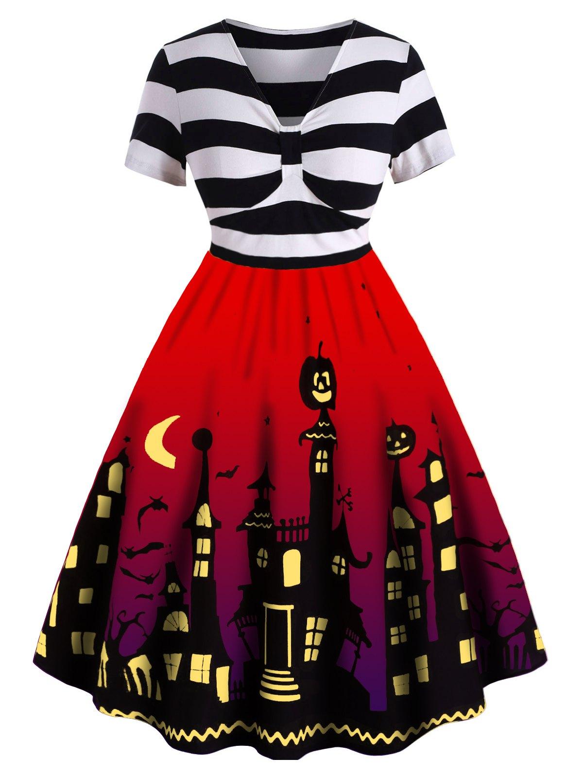 Plus Size Halloween Vintage Pin Up Dress