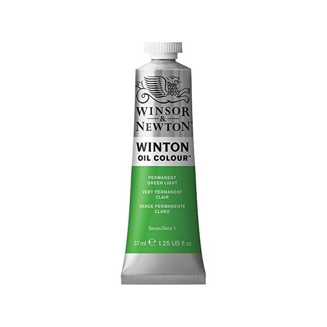 Winsor & newton / colart 1414483 winton oil colour 37ml permanent green light (Green)