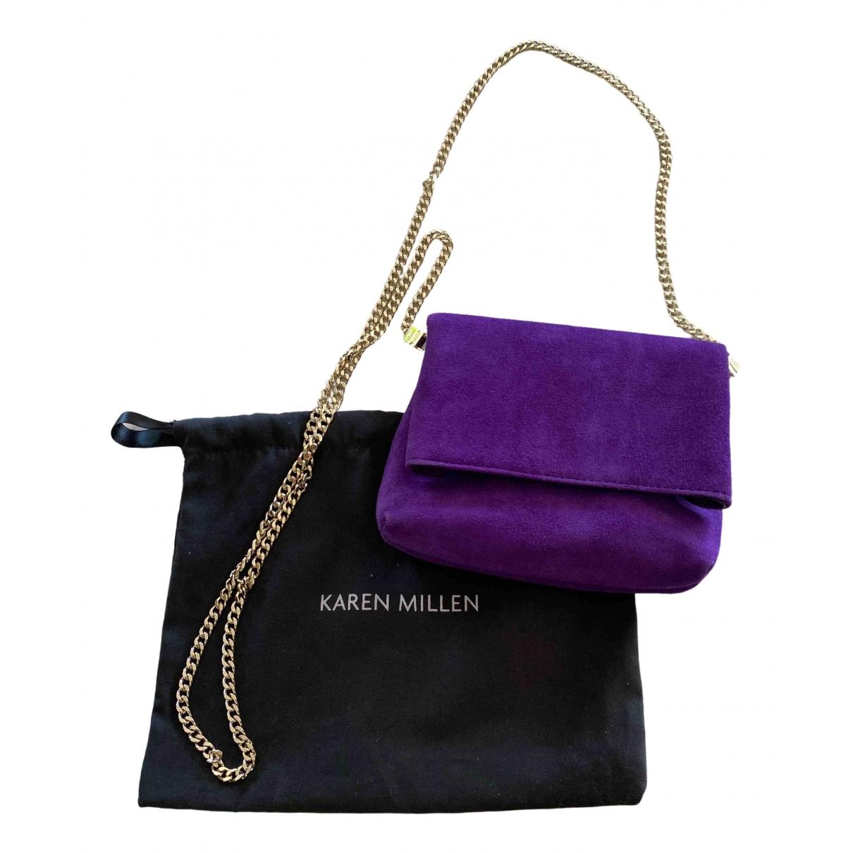 Karen Millen - Sac a main   pour femme en cuir - violet