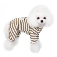 1 Stueck Schlafanzug mit Streifen fuer Hunde
