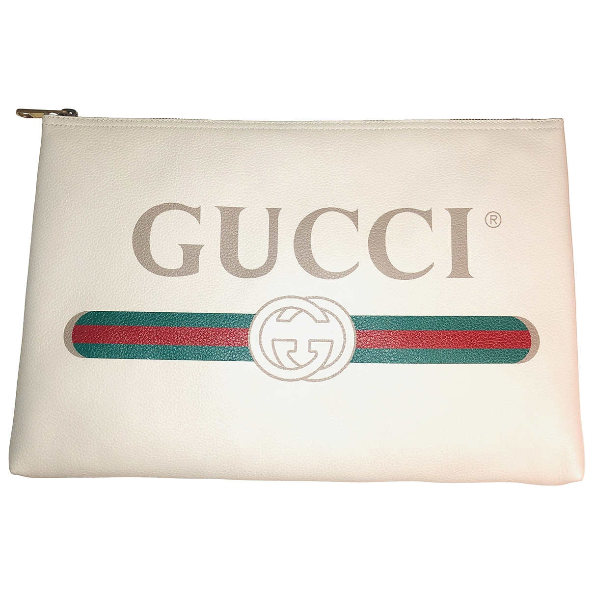 Gucci \N White Leather Small bag, wallet & cases for Men \N