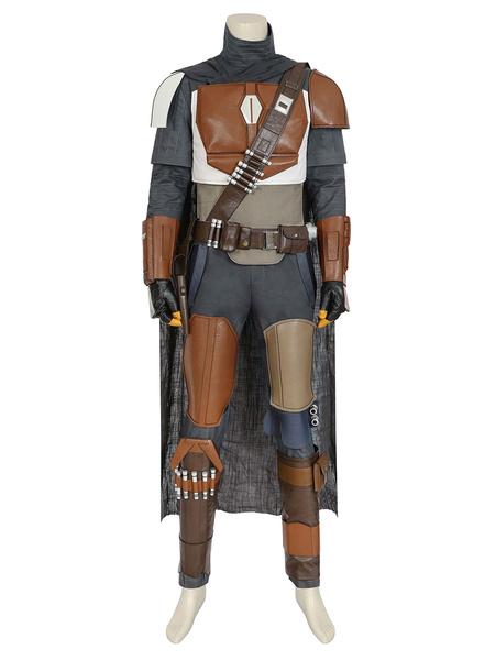 Milanoo Star Wars Mandalorian Din Djarin Uniform Cosplay Costume