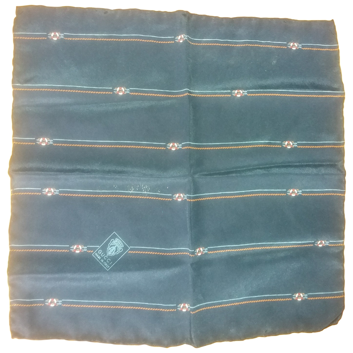 Gucci \N Schal in  Blau Seide