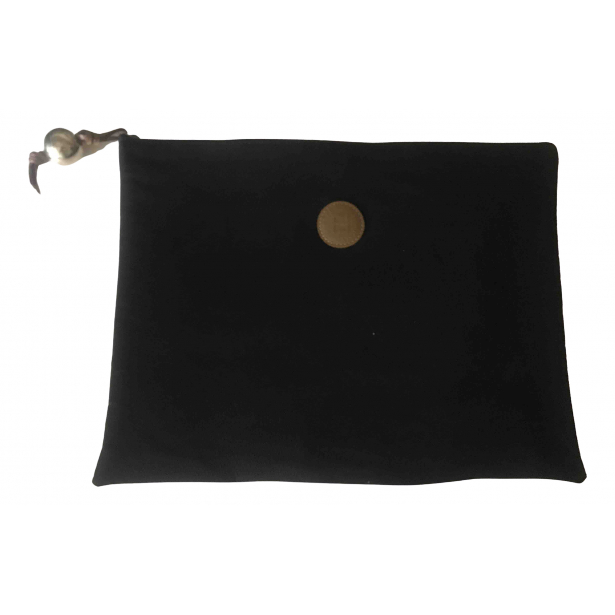 Fendi FF Clutch in  Schwarz Baumwolle