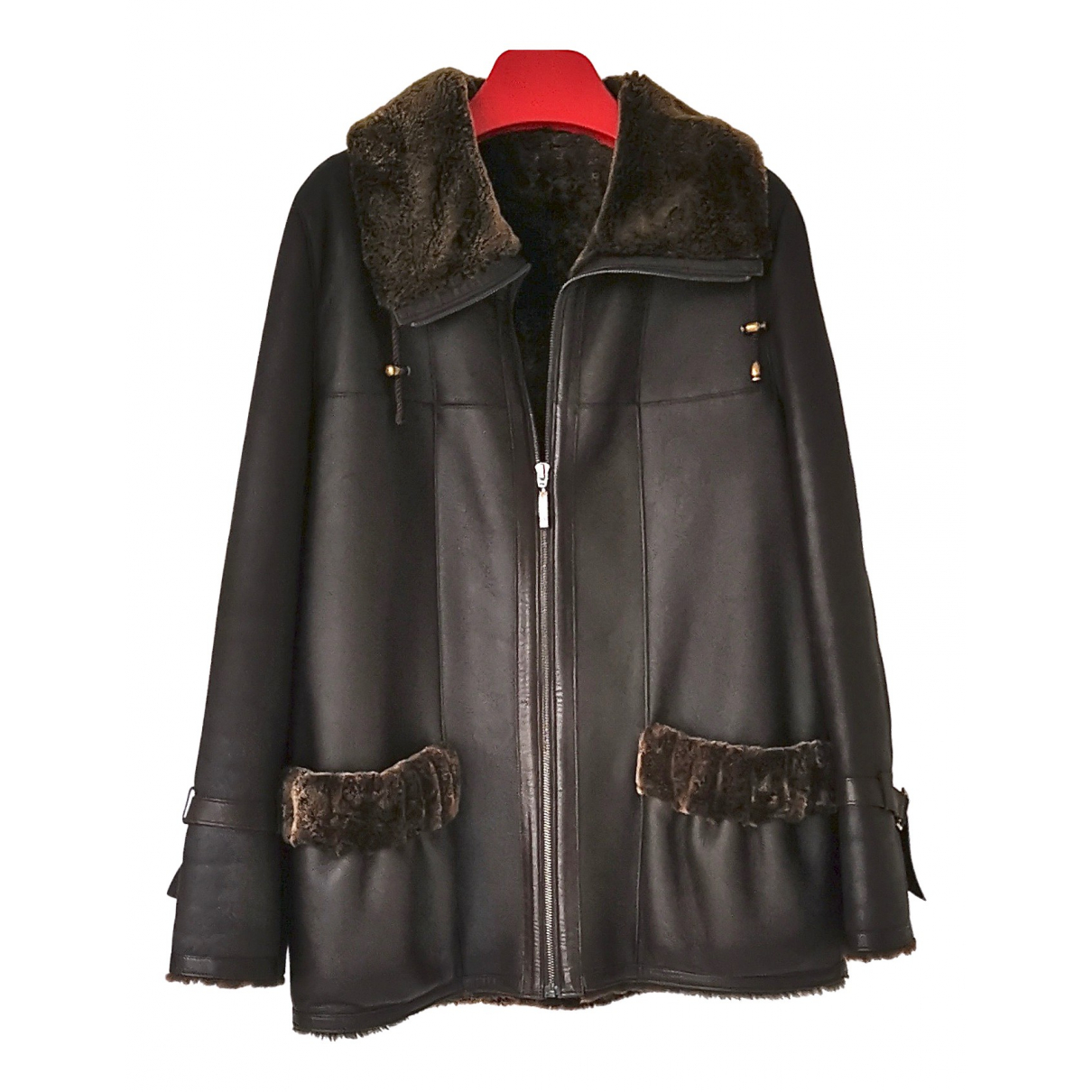 Sprung Frères N Brown Leather Leather jacket for Women 42 FR