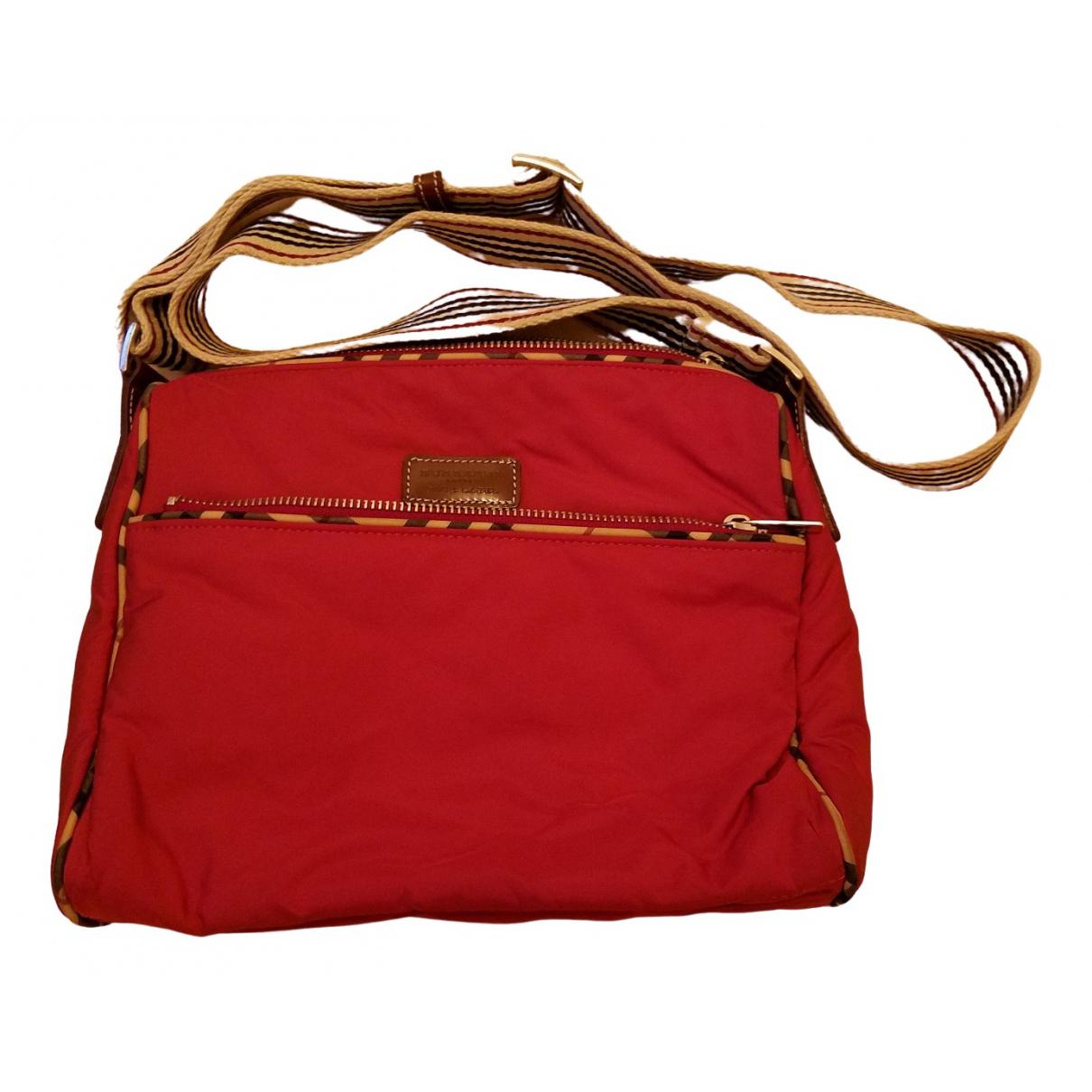 Burberry \N Red Cloth handbag for Women \N