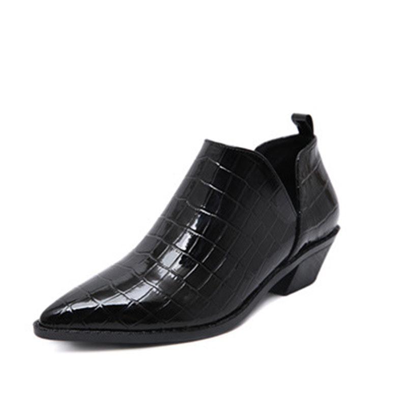 Ericdress Plain Block Heel Pointed Toe Women's Sexy Boots