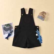 Toddler Boys Solid Pinafore Romper