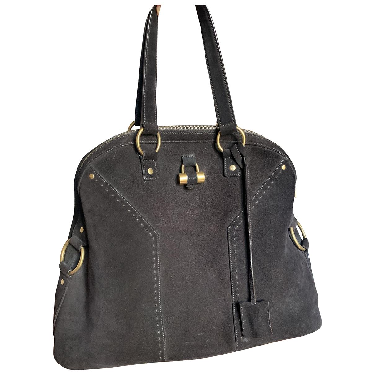 Yves Saint Laurent Muse Handtasche in  Braun Veloursleder