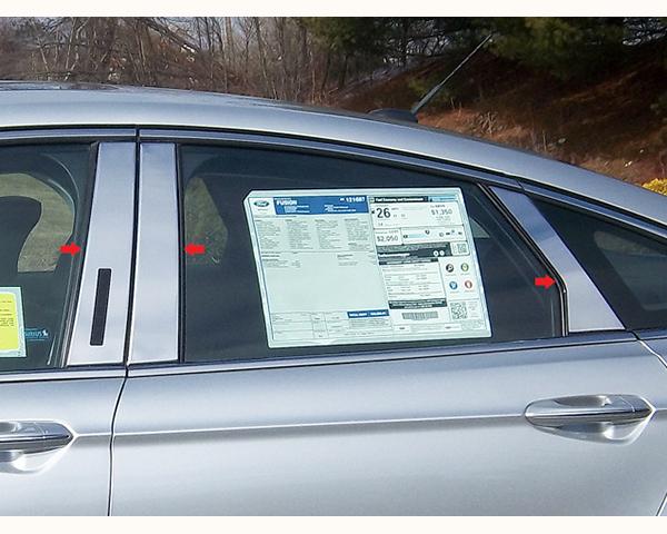 Quality Automotive Accessories 6-Piece Pillar Post Trim Kit Shear 3 Sides Lincoln MKZ 2014