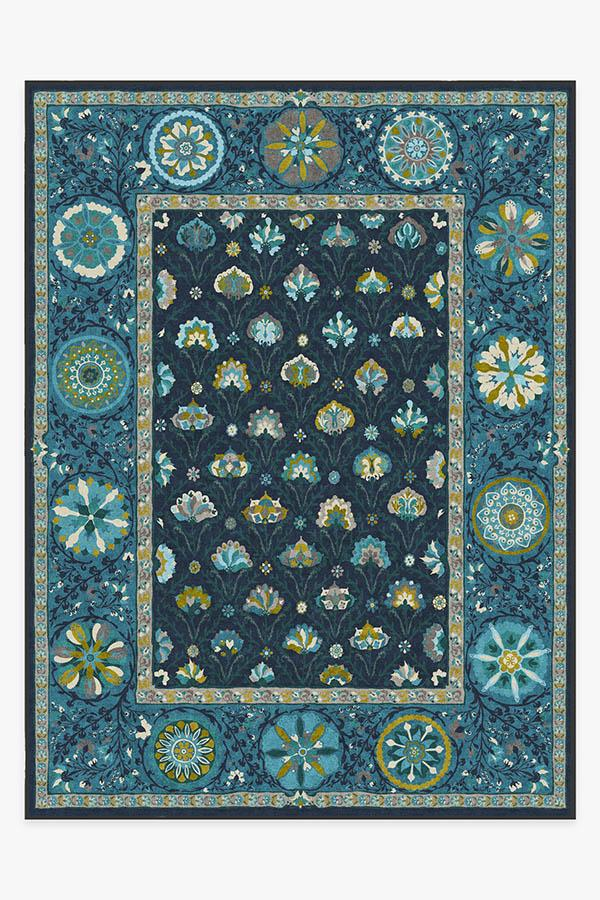 Washable Rug Cover | Latiff Midnight Blue Rug | Stain-Resistant | Ruggable | 9'x12'