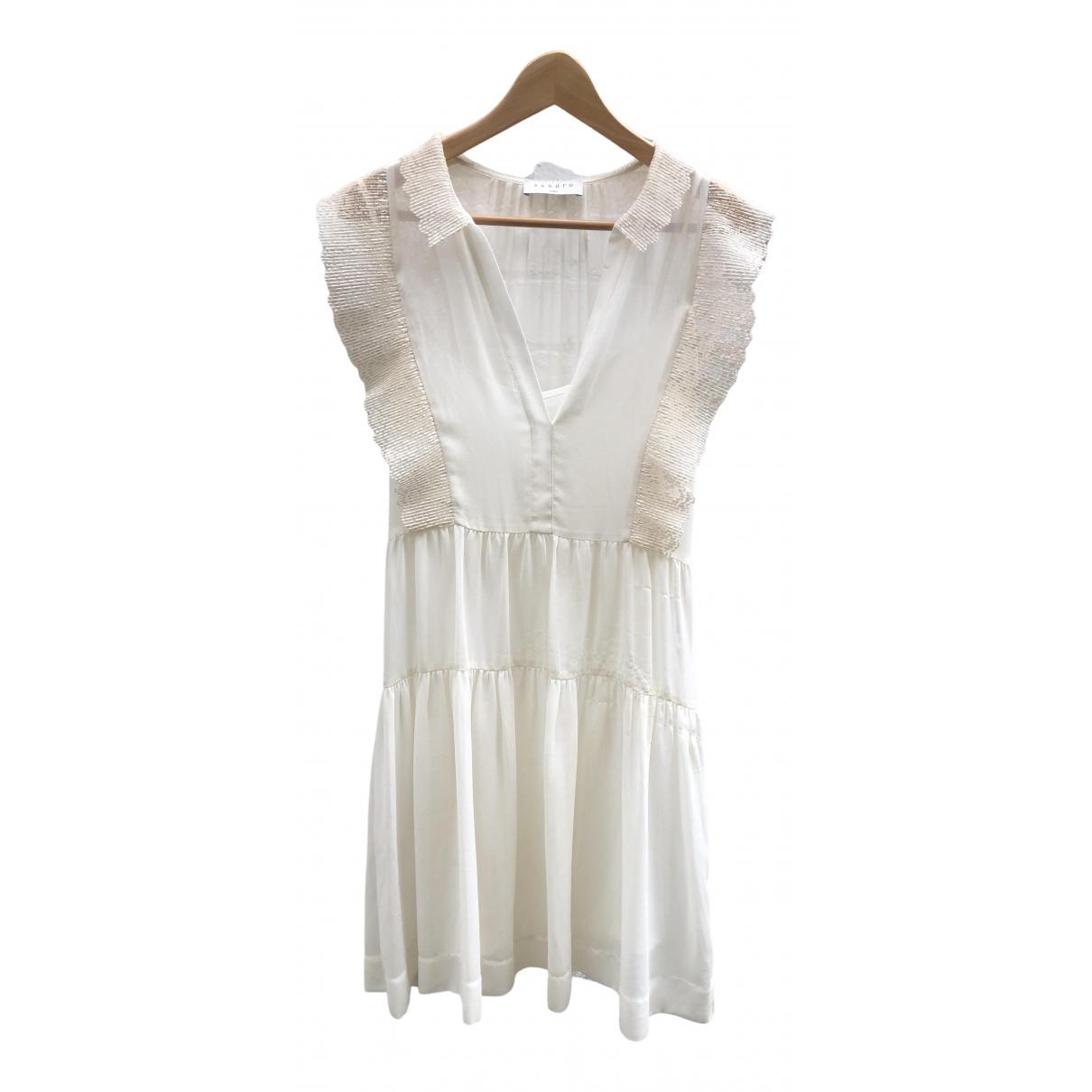 Sandro \N Kleid in  Weiss Synthetik